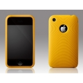 More Swirling Series Silicone Case Golden Yellow for iPhone 3G/3GS (AP05-001GYL)